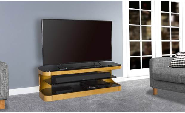 AVF Affinity Plus Kensington 1250 Oak - left front (TV and components not included)