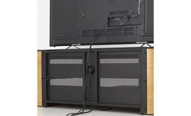 AVF Affinity Plus Kensington 1250 Oak - openings for cable management (TV not included)