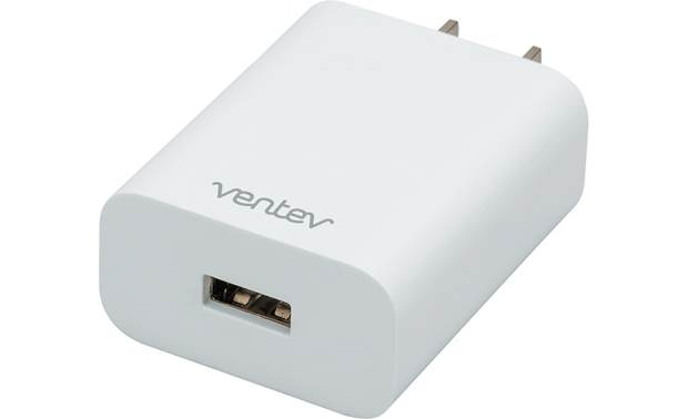 Ventev wireless chargepad+ AC plug with USB-A port for included cable