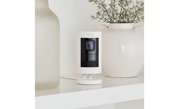 Ring Stick Up Cam Wired Petite and decor-friendly for indoor use