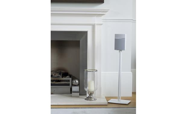 SoundXtra Floor Stand White - hollow support hides wires and cables (speaker not included)