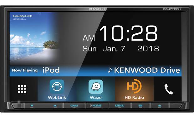 Kenwood DDX775BH This Kenwood includes WebLink, which gives you direct control over select apps directly from the touchscreen display