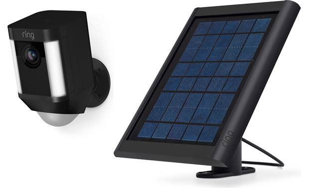 Ring Spotlight Cam Battery and Solar Panel Bundle Front