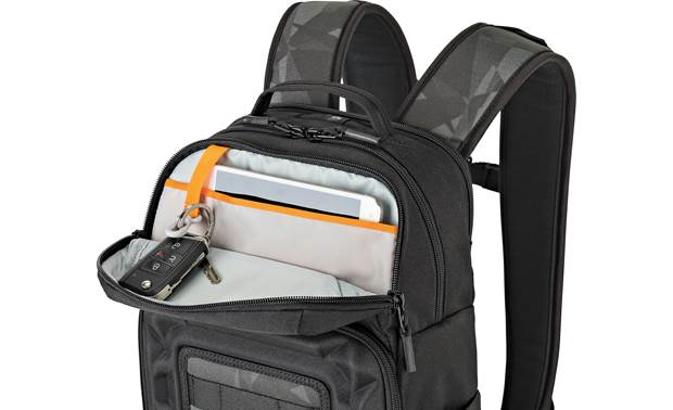 Lowepro Droneguard BP 200 Slat pocket holds 2-liter hydration reservoir (not included) or mini tablet