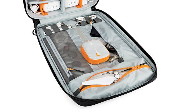 Lowepro Droneguard BP 400 Zippered pockets for organizing accessories