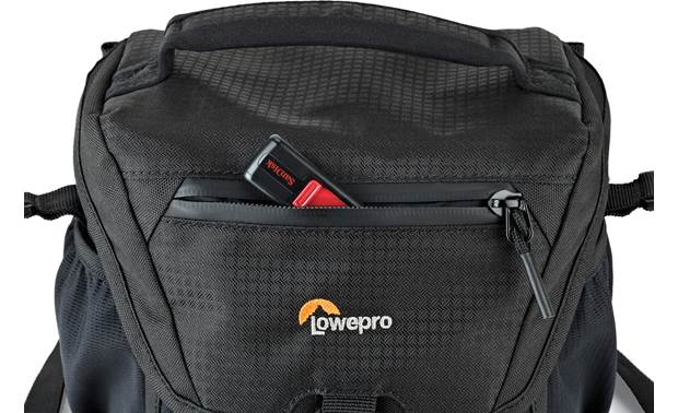 Lowepro Nova 140 AW II Top flap outer compartment for extra storage