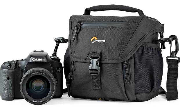 Lowepro Nova 140 AW II Shown with compact DSLR camera (not included)