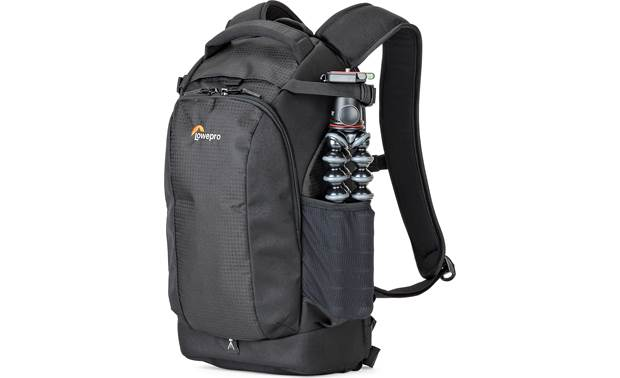 Lowepro Flipside 200 AW II Side pouches can accommodate small tripods, water bottles, and other small accessories