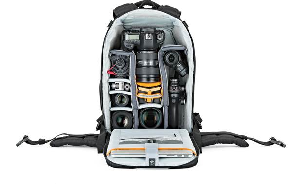 Lowepro Flipside 400 AW II Removable internal dividers keep your gear organized (contents not included)