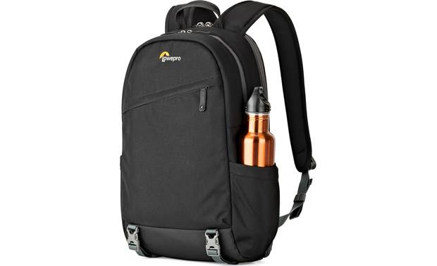Lowepro m-Trekker BP 150 Side pouches hold small tripods, water bottles, or other compact gear
