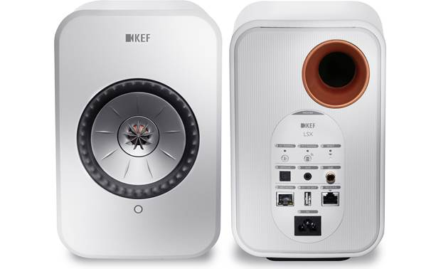 KEF LSX Convenient inputs and outputs on the right-hand speaker