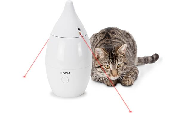 PetSafe Zoom Rotating Laser Cat Toy Two lasers provide double the fun