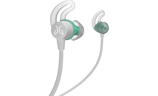 "Jaybird Tarah Three pairs of soft-gel ear tips with included  ""fins"" to help secure earbuds"