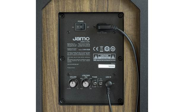 Jamo S 810 SUB Input and controls are located at the bottom of the sub