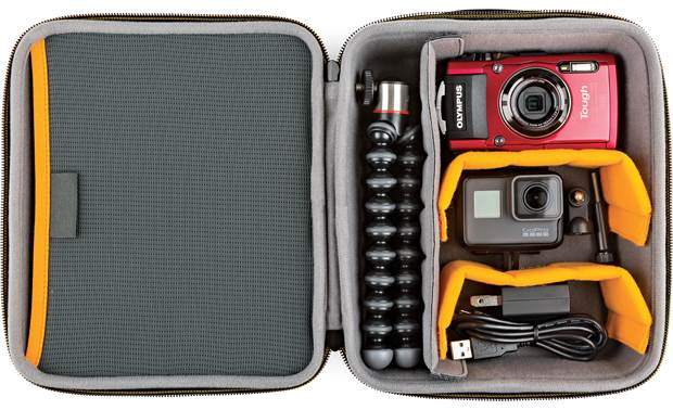Lowepro Hardside CS 80 Internal dividers configured to protect a camera and accessories