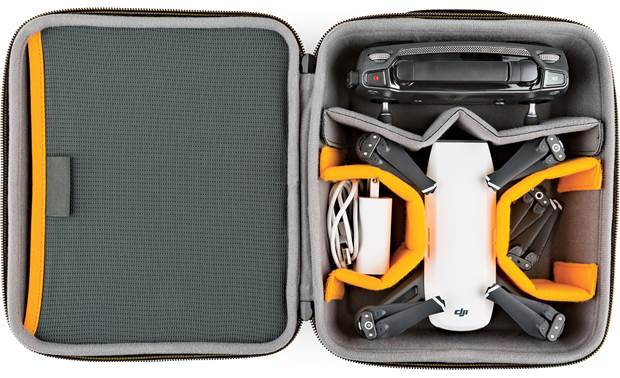 Lowepro Hardside CS 80 Internal dividers configured to protect a drone and accessories