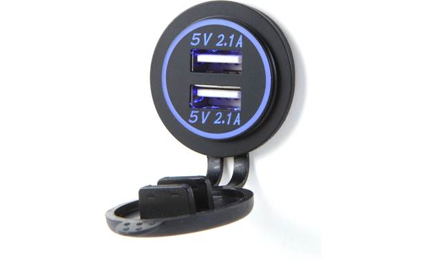 Accele USBR12V2L Add two USB charging ports in your vehicle