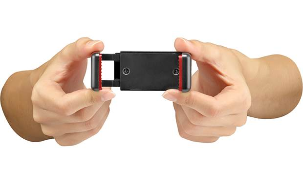 Manfrotto Pixi Smart Universal smartphone clamp extends to accommodate larger devices