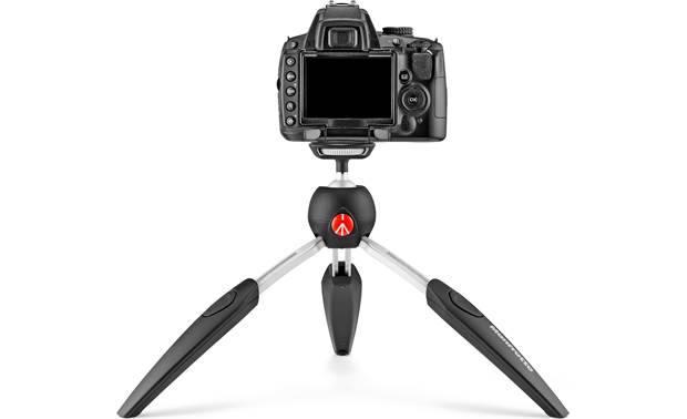Manfrotto Pixi EVO Shown with compact DSLR camera (not included)