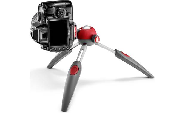Manfrotto Pixi EVO Shown with compact DSLR in vertical orientation (camera not included)