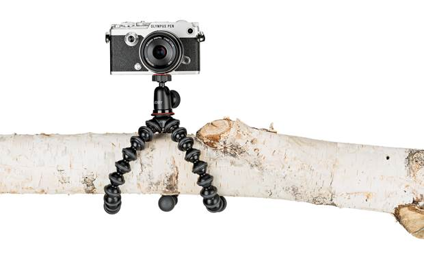 Joby® GorillaPod® 1K Flexible legs wrap around just about anything