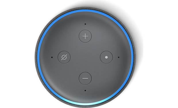 Amazon Echo Dot (3rd Generation) Black - top--mounted control buttons