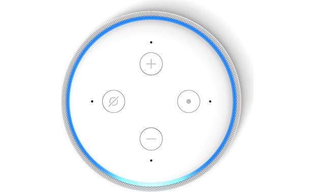 Amazon Echo Dot (3rd Generation) White - top-mounted control buttons