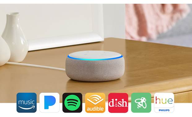 Amazon Echo Dot (3rd Generation) White - compatible with a growing number of services