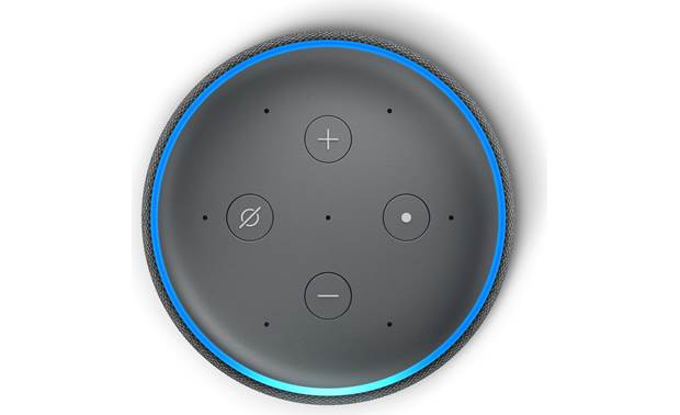 Amazon Echo Plus (2nd Generation) Black - top-mounted control buttons