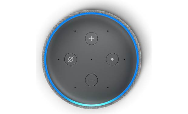 Amazon Echo Plus (2nd Generation) Gray - top-mounted control buttons
