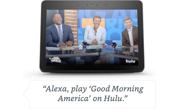 Amazon Echo Show (2nd Generation) Enjoy TV shows from Hulu