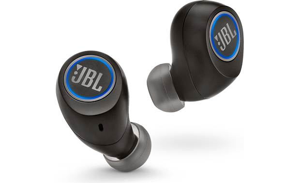 JBL Free X Blue light indicates that earbuds are connected