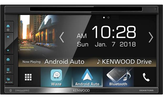 "Kenwood DDX6705S Kenwood's not kidding about the ""multi-"" in multimedia, including Android Auto, Apple CarPlay, Bluetooth, WebLink, and an option for SiriusXM"