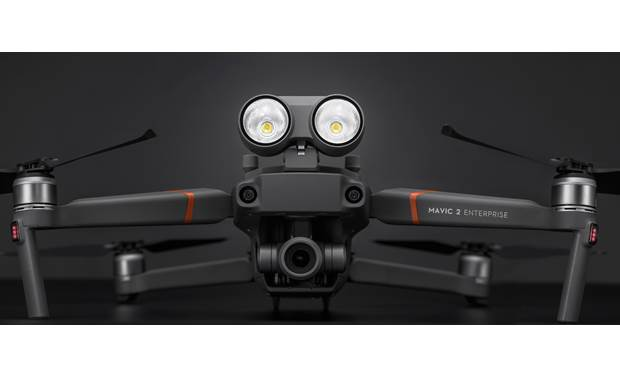 DJI Mavic 2 Enterprise Shown with included spotlight accessory