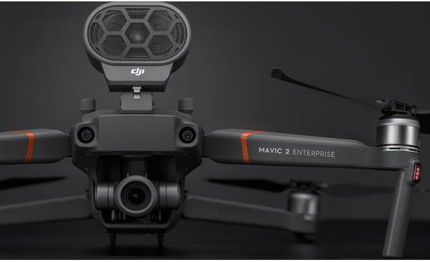 DJI Mavic 2 Enterprise Shown with included speaker accessory