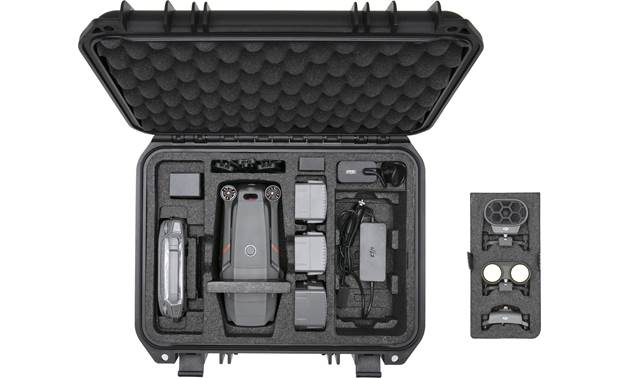 DJI Mavic 2 Enterprise Protector Case Shown with drone and accessories (not included)