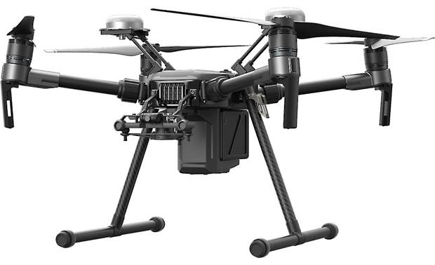 DJI Matrice 210 RTK-G Customizable payload configurations for single or dual cameras