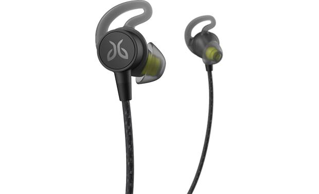"Jaybird Tarah Pro Three pairs of soft-gel ear tips with included  ""fins"" to help secure earbuds"