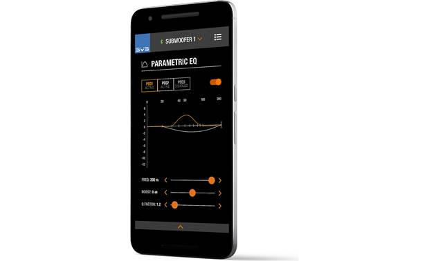 SVS PB16-Ultra SVS's mobile app provides precise adjustments