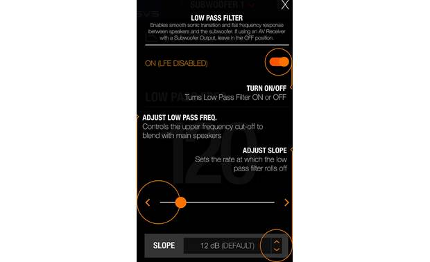 SVS PB16-Ultra The app even provides explanations of how each adjustment affects the sound
