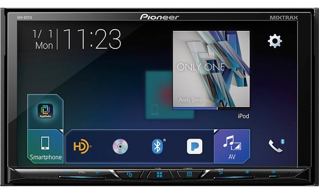 Pioneer AVH-601EX Maximize your display with the AVH-601EX's 7