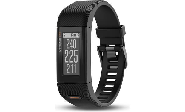 Garmin Approach® X10 The Garmin Approach X10 golf GPS band shows you distances to the front, center, and back of the green
