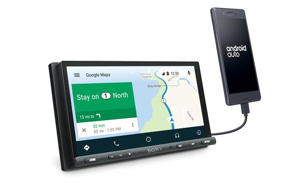Sony XAV-AX5000 Use Android Auto to access Google Maps while your smartphone is connected