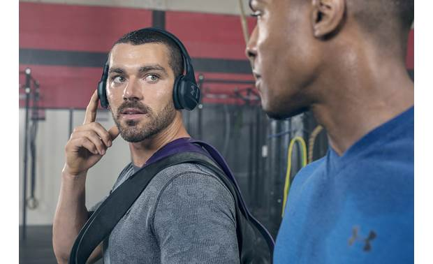 Under Armour® Sport Wireless Train — Engineered by JBL TalkThru feature lets you quickly hear external sounds