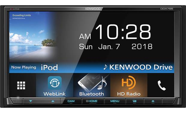 Kenwood Excelon DDX795 Use the big screen to access handy apps for your trip