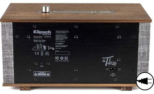 Klipsch The Three with Google Assistant Walnut - back, AC Power Required