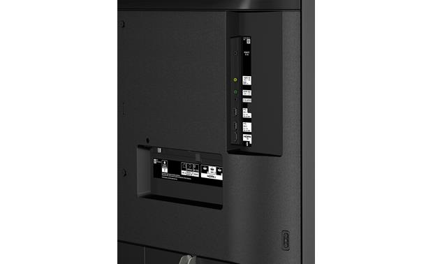 Sony XBR-75X900F Back (side-facing A/V connections)