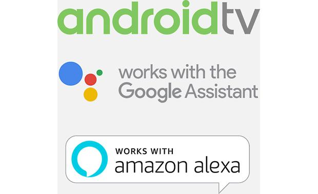 Sony XBR-75X900F The Android TV OS supports voice control via Google Home- and Amazon Alexa-compatible voice control assistants