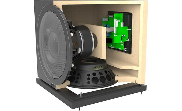 ELAC Debut 2.0 SUB3010 Cutaway view of cabinet