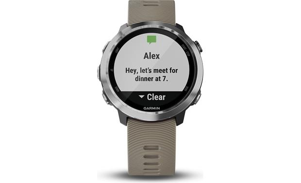 Garmin Forerunner 645 Text notifications with your smartphone.
